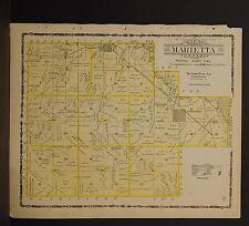 Iowa, Marshall County Map, 1907 Township of Marietta P3#80