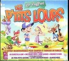LE COFFRET DES P'TITS LOUPS - CHANTER ET S'AMUSER EN FAMILLE - 4 CD + DVD - NEUF