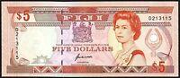 1989 Fiji 5 Dollars Banknote * D 213115 * aUNC * P-93a *