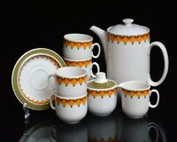 vintage 70s ceramic COFFEE serving SET by SCHERZER, Bavaria, Germany / space age