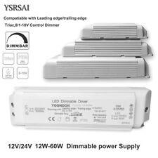 0-10V Dimmer 12V 24V Power Supply Driver 20W-60W Triac Dimmable Led Transformer