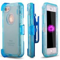 Shockproof Defender Clear Case With Belt Clip Holster For iPhone 6/6S/6SP