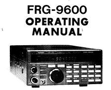 YAESU FRG-9600 Récepteur Scanner d'exploitation et service manual