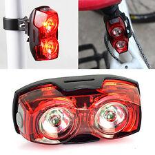 Fahrrad 2 LED Rücklicht Lampe Leuchte Taillight Reflektor Fahrradbeleuchtung w/