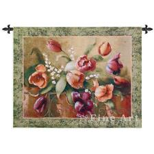 45x32 TERRACE TULIPS Floral Flowers Tapestry Wall Hanging