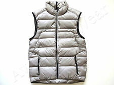 New Ralph Lauren RLX Silver Gray 100% Nylon Lightweight Puffer Down Vest  XXL