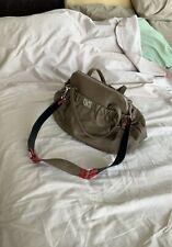 Tosa Blu Tan, Red and Black handbag satchel or long wide strap