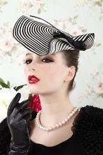 Fashion Zebra Womens Dress Fascinator Straw Hat Party Wedding Church Show A003