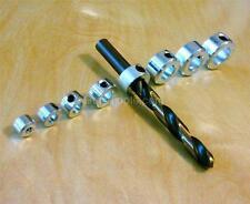 8 pc Drill Bit Shaft Depth Stop Collar wCase 1/8,3/16,1/4,5/16,3/8,7/16,1/2,9/16