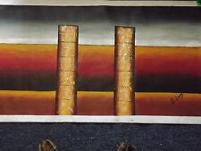 Pintura al óleo abstracta grande largo Lienzo Arte Moderno Contemporáneo Moderno Original