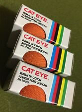 3 NOS Vintage CAT EYE No. 3000 COTTON HANDLEBAR TAPE Orange RUBAN POUR GUIDONS.