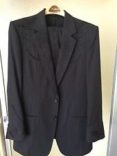 Nudie Cohn (Nudie's) Vintage Men's Black Roses Suit
