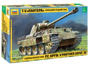 Zvezda 3678 German Medium Tank T-V Panther AUSF.D 1/35