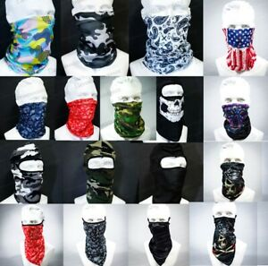 Bandana Face Mask Neck Gaiter Headband Face Cover Balaclava Scarf Multi-function