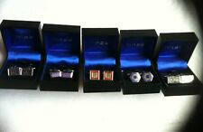 Linea 5 Assorted Pairs Of Men'S Stainless Steel Classic Silver Tone Cufflinks
