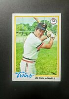 1978 Topps Glen Adams #497 Baseball Card - Minnesota Twins