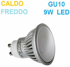 Faretto LED GU10,luce bianca,9W=90W,bianco freddo,caldo,lampadina,GU 10,opaco