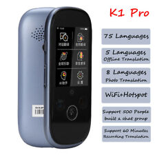 """2.4"""" Wifi Bluetooth Voice Photo Translator 5MP Camera Touch Screen 75 Languages"""