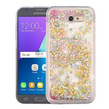For Samsung Galaxy J3 Luna Pro Liquid Glitter Quicksand Hard Case Phone Cover