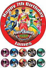 Power Rangers Dino Charge Personalise Edible  Cake Topper Party Decoration