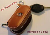 Leather Car logo Key fob Key  Chain Key Case wallet Remote For Toyota