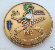 US ARMY SNIPER SCHOOL MP Military Police Veteran CHALLENGE COIN 22341