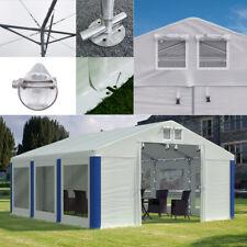 Pavillon ganzjährig Partyzelt 4x6 - 8x12m mit Transparenten Fenstern Verstärkung