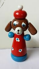 Vintage USSR/Russian wooden toy dog.