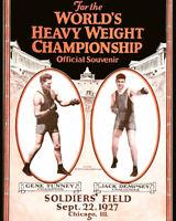 1927 Title Fight GENE TUNNEY vs JACK DEMPSEY Glossy 8x10 Photo Poster Print