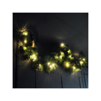 Pre-Lit Large Garland Christmas Decoration Warm White LED's Luxury 4ft