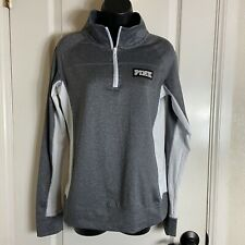 victoria secret Pink sweater 1/4 zip gray