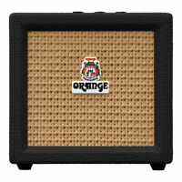 Orange Amps Crush Mini Combo Guitar Amp, 9V Battery-Powered 3-Watt, 8-ohm, Black