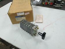 Westinghouse Type W-2 Rotary Switch #DN42044-1 6 Pole 2 Position Cam (NIB)