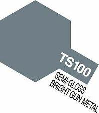 Tamiya - Lacquer Spray Paint, TS-100 Bright Gun Metal - 100ml Spray Can