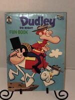 Vintage 70s DUDLEY DO-RIGHT Fun Book Coloring Merrigold Press Cartoon TV 1972
