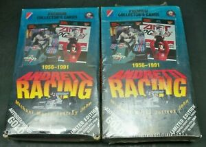 2- 1992 Andretti Racing Collector's Cards Sealed Boxes Limited Edition 72 Packs
