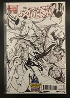 AMAZING SPIDER-MAN #1.1  J SCOTT CAMPBELL GWEN STACY B&W MIDTOWN VARIANT