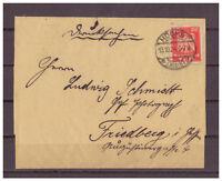 Deutsches Reich, MiNr. 357 EF Höchst nach Friedberg 13.10.1924
