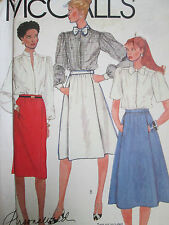 McCALL'S SEWING PATTERN WOMEN'S SLIM & FLARED SKIRTS SIZE 12 NEW VINTAGE PATTERN