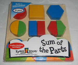 NEW Ryans Room Sum of the Parts Wood Wooden Puzzle Shape Set Small World Toys