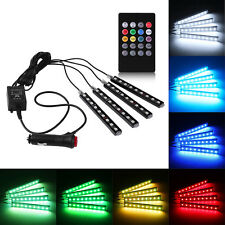 4*9 LED Car Light Interior Atmosphere SUV Floor Strip Lamp Remote Music Control