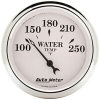 AutoMeter 1638 Old Tyme White Electric Water Temperature Gauge