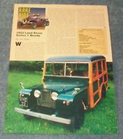 1952 Land Rover Series 1 Woody Station Wagon Vintage Article --From 1996--
