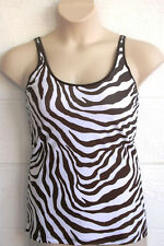 LuisaLuisa SST700 M/L Zebra Print Pocketed Mastectomy Camisole Tank Top NEW