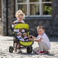 Poupées Filles Double Buggy Jouet bébés jumeaux poussette jogger poussette Cadeau