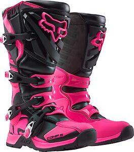 Fox Racing Womens Comp 5 MX Dirtbike ATV Riding Boots Black Pink 16450-285
