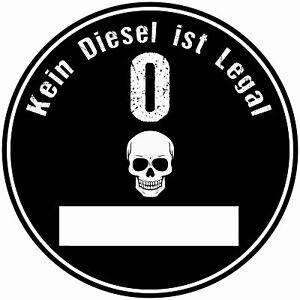 2x Euro Plakette Schwarz Umweltplakette  Feinstaubplakette Spassplakett