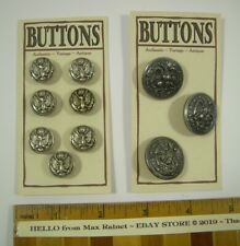 "10 Silver Metal American Eagle Buttons > Pea Coat > Military > Round 1"" + 1/2"""