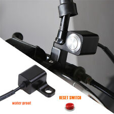 Black 12V ATV Motorcycle Momentary Switch Horn Engine Kill Start Finger Button