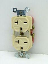Arrow Hart 5862I Duplex Receptacle Outlet 20A 250V 2-Pole NEMA 6-20R Ivory